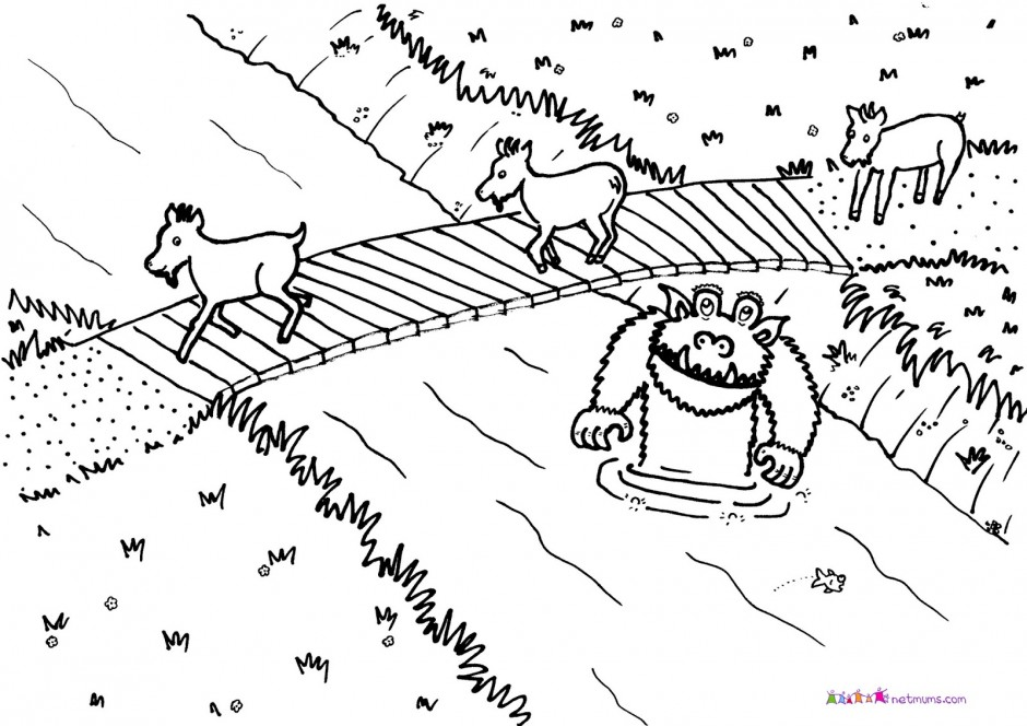 Three Billy Goats Gruff Coloring Pages Az Coloring Pages Three Billy Goats Gruff Coloring Pages