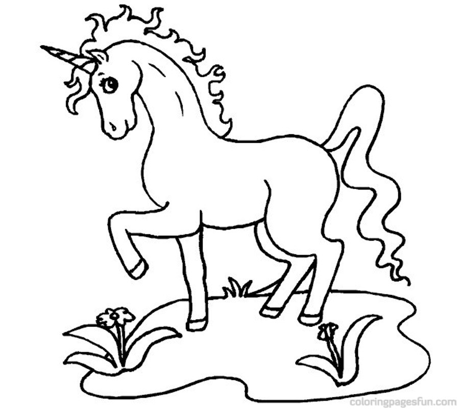Unicorn Coloring Pages For Kids - AZ Coloring Pages