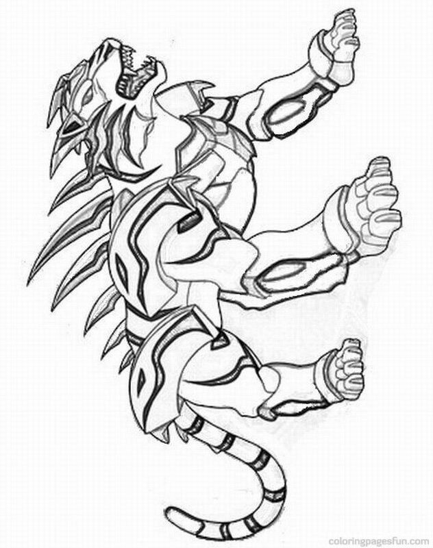 Free Printable Bakugan Coloring Pages - Coloring Home
