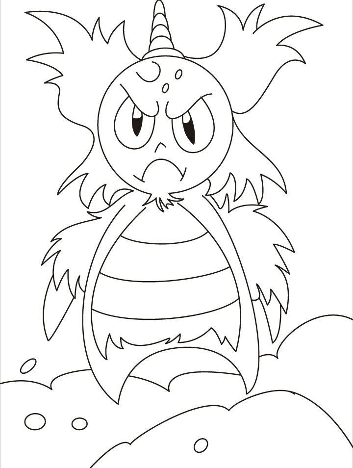 monster coloring pages for kids - monster coloring pages for kids coloring home