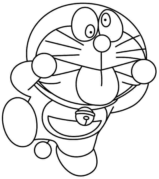 Cartoon Doraemon Coloring Pages Printable Free For Girls Boys