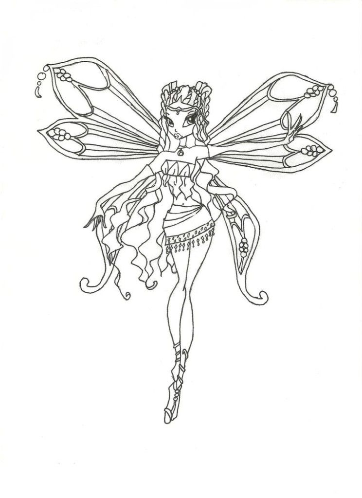 New Winx Club Enchantix Layla Coloring Page By Winxmagic Dtfd