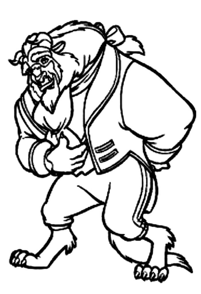 Beauty and the beast coloring pages coloring home for Gaston coloring pages