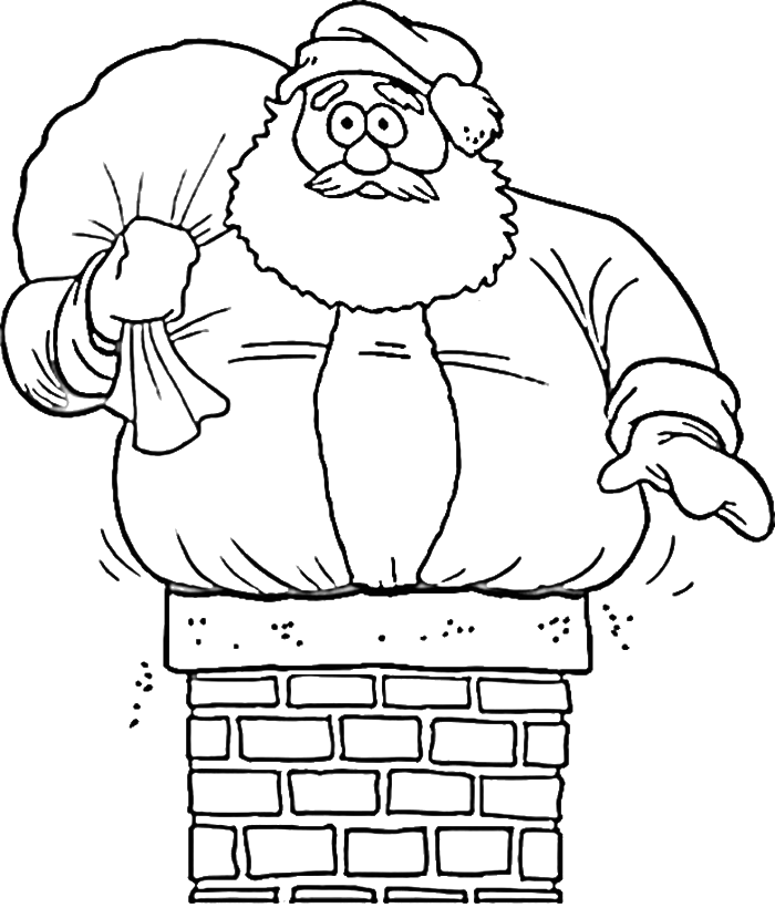 Coloring pages of santa claus coloring home for Funny christmas coloring pages