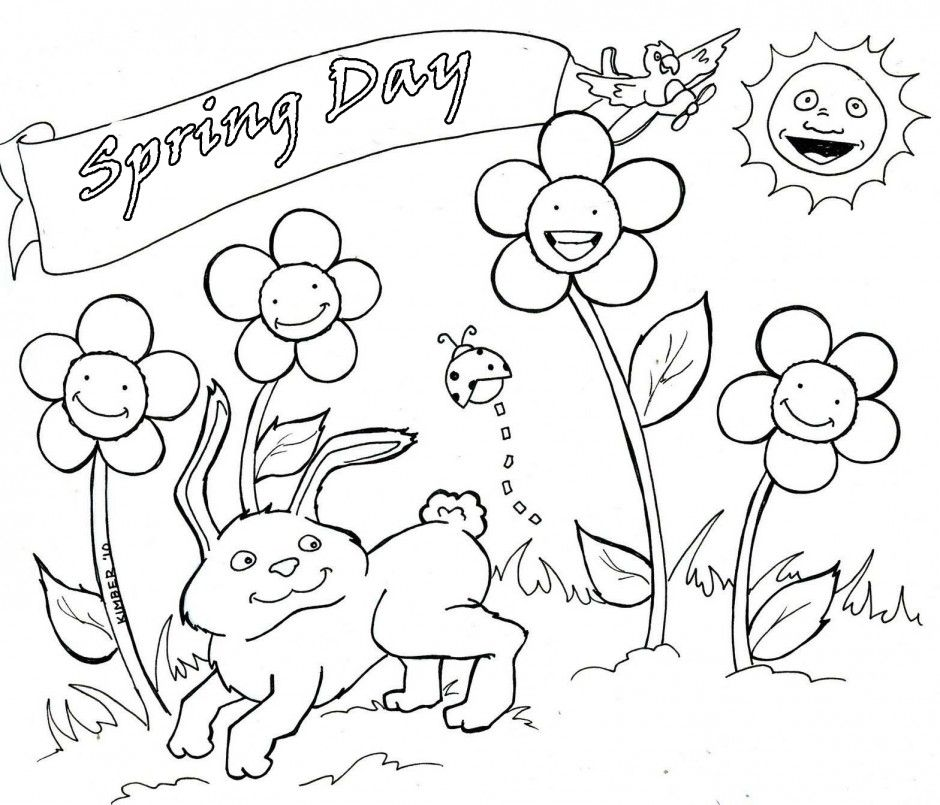 watering flowers coloring pages - photo#20