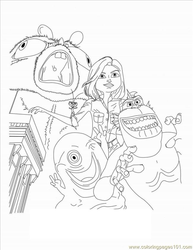 Coloring Pages Monsters Vs Aliens 11 Cartoons Gt Monsters Inc