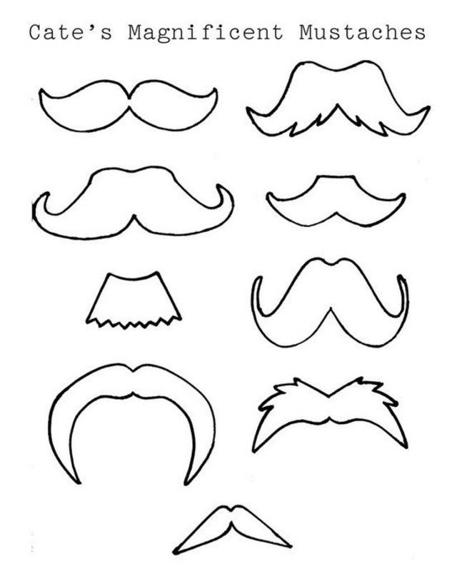 Mustache Coloring Pages - Coloring Home