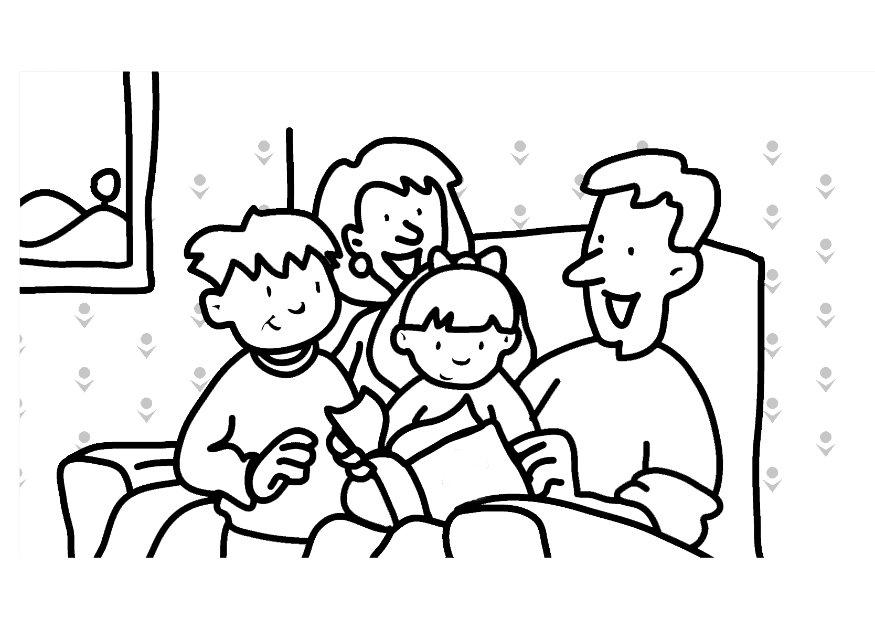 Reading The Bible Coloring Pages