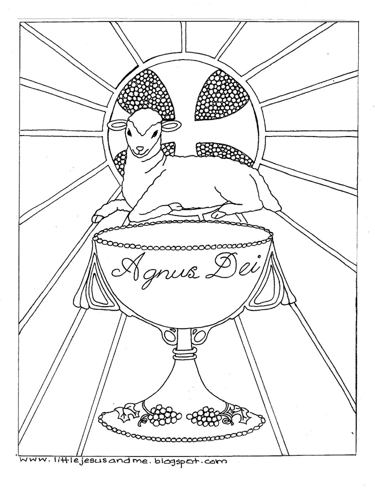 communion coloring pages - photo#28