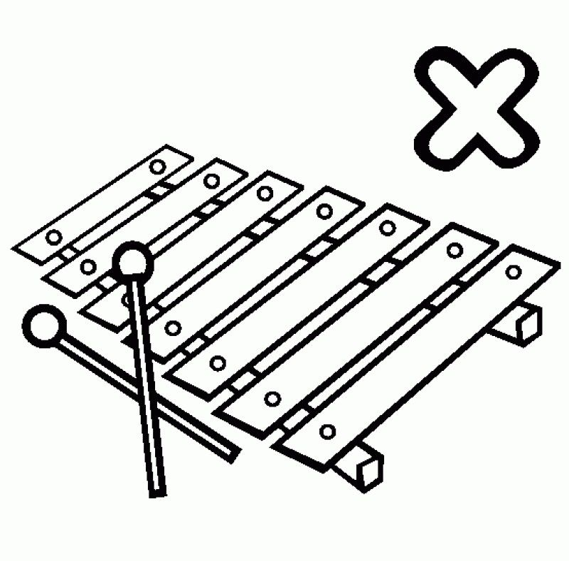 Letter X Is For Xylophone Coloring Pages - Kids Colouring Pages