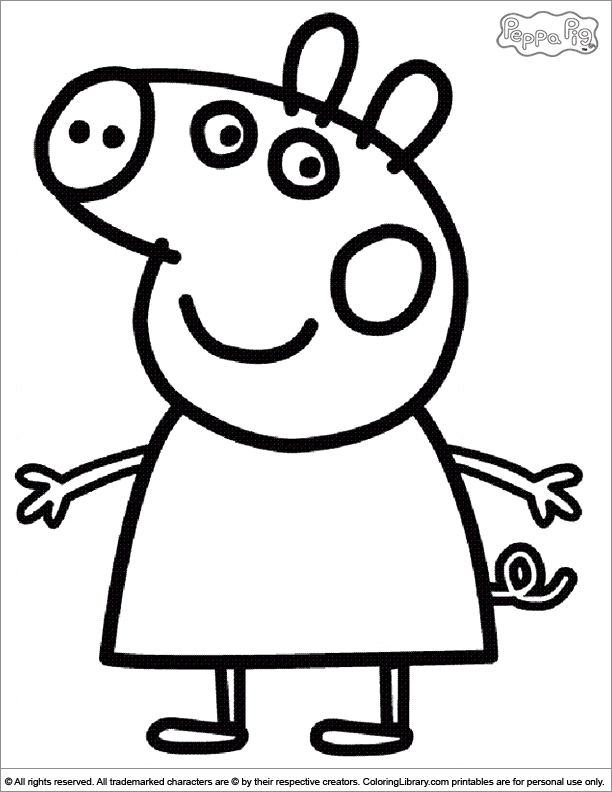 Peppa pig coloring pages coloring home for Peppa pig cake template free