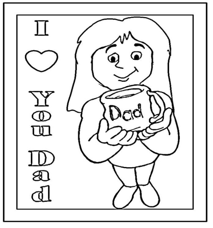 I love you daddy coloring pages az coloring pages for Coloring pages i love dad