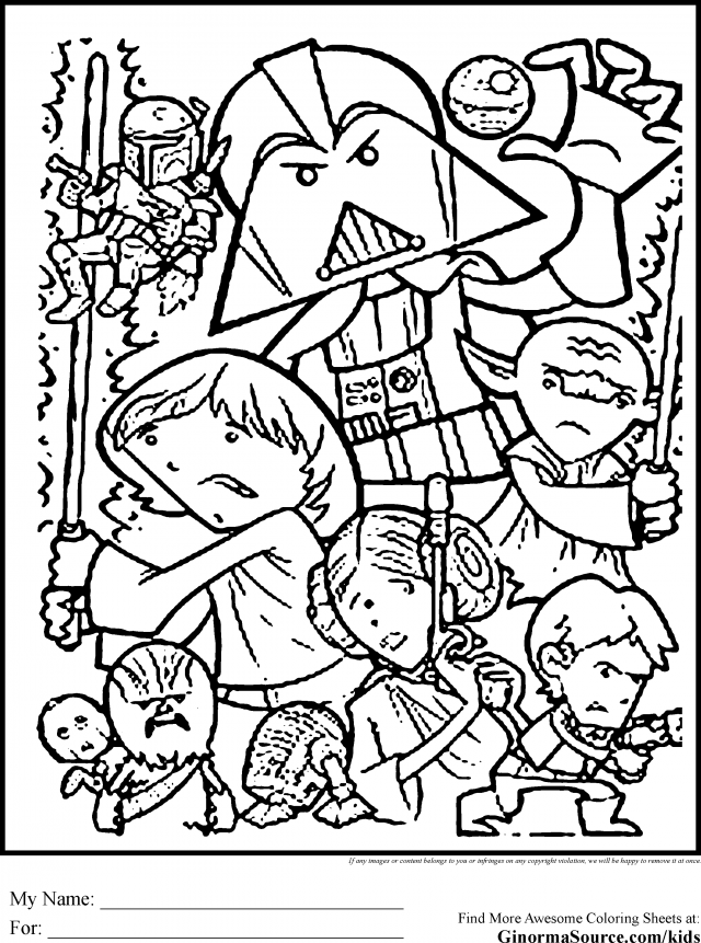 Jedi Coloring Pages Coloring