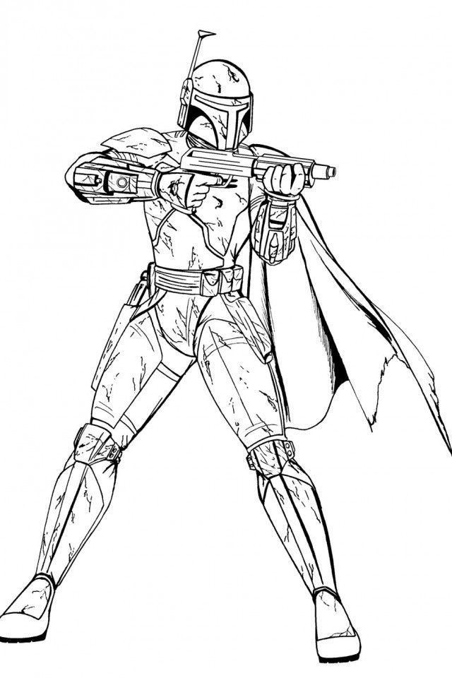 star wars coloring pages boba fett - boba fett coloring page coloring home