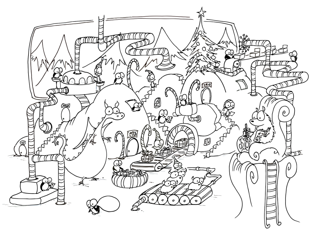 advanced holiday coloring pages - photo#21