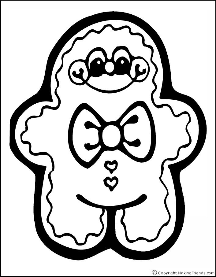 ginger man coloring pages - photo#29
