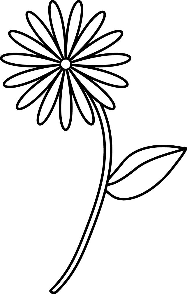 Simple flower coloring page coloring home for Easy flower coloring pages
