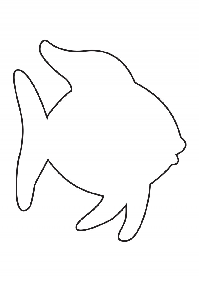 Rainbow Fish Coloring Pages For Kids