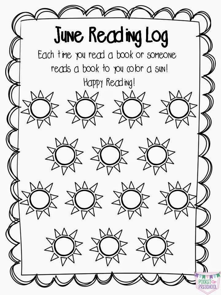 Pocket Of Preschool: At Home Reading Logs & Parent Letter