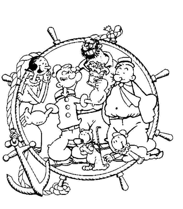 popeye olive oyl coloring pages - photo#10
