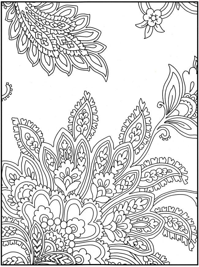 Intricate Cat Coloring Pages : Intricate design coloring pages home