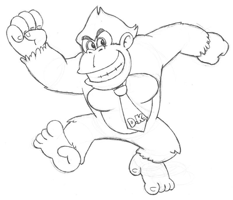 Diddy kong coloring pages az coloring pages for Donkey kong coloring pages free
