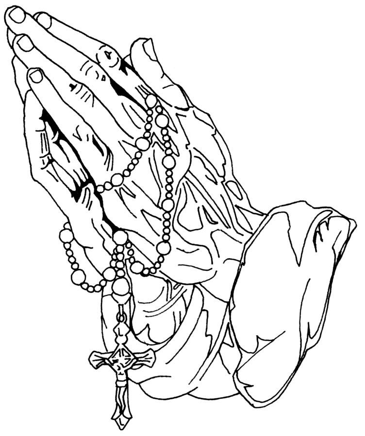 Coloring Pages Of Praying Hands Coloring Home