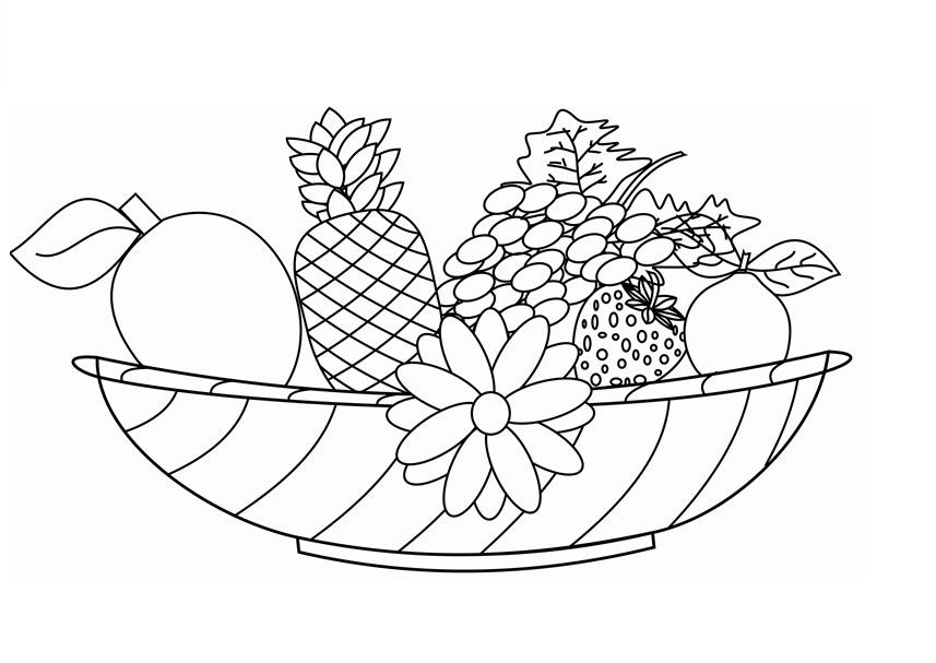 Printable Fruit Coloring Pages AZ