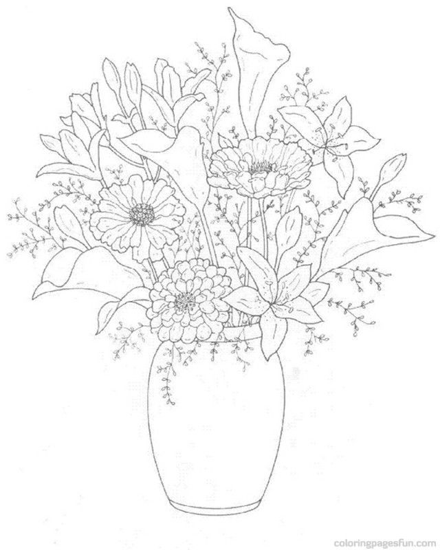 Flower Bouquet Coloring Pages - Coloring Home