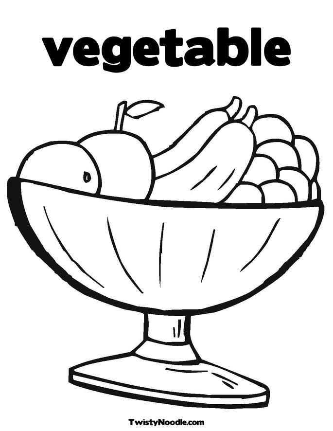 Vegetable color pages coloring home for Free printable chiropractic coloring pages