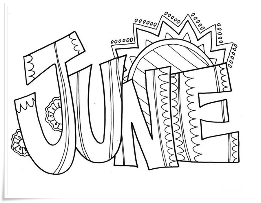 June Printable Coloring Pages June Coloring Pages