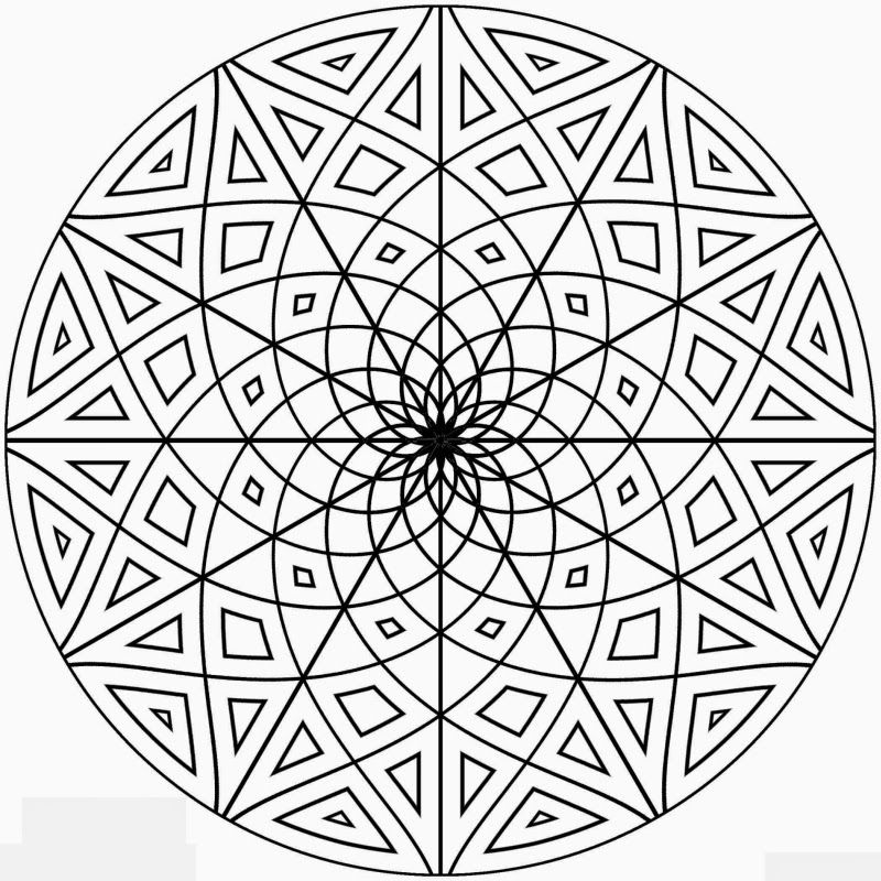 geometric coloring pages cool - photo#13