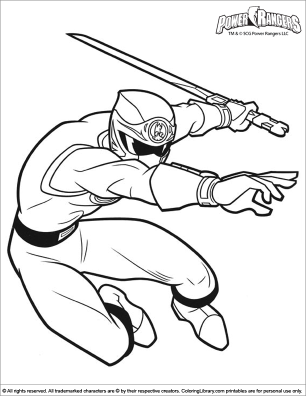 power rangers coloring page coloring home