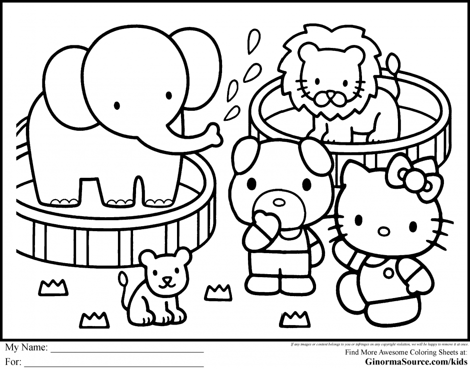 circus coloring sheets coloring pages hello kitty circus 167901 - Circus Coloring Pages
