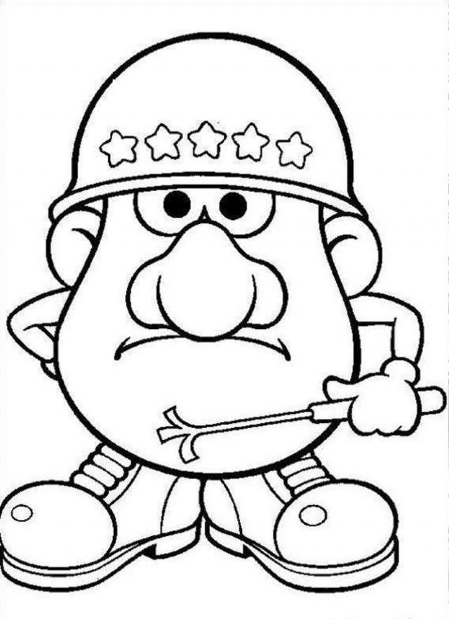 Print Or Download Mr Potato Head Free Printable Coloring Pages No