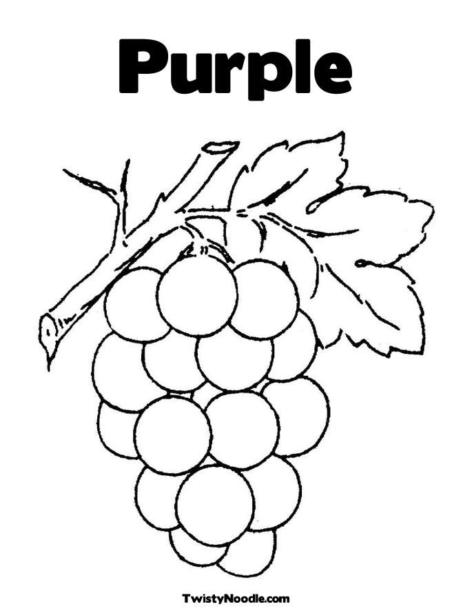 purple coloring pages - photo#1