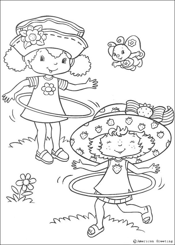 Strawberry Shortcake Coloring Book Pages Coloring Home
