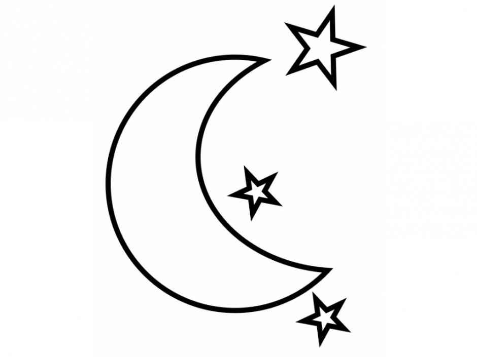 Раскраска луна