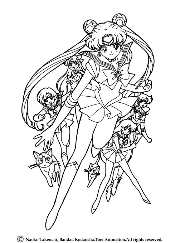sailor moon coloring pages saturn - photo#21
