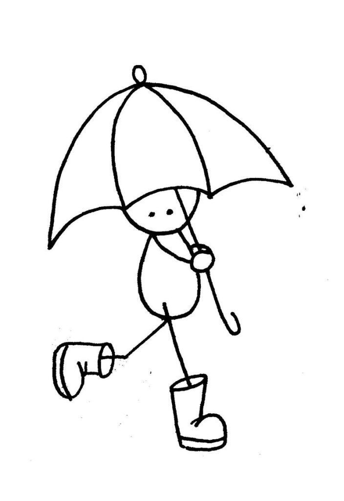 Umbrella Coloring Pages Printable Ace Images 165792 Hop On Pop