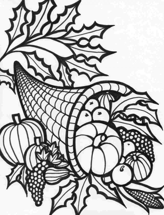 Thanksgiving Food Coloring Pages Coloring Home