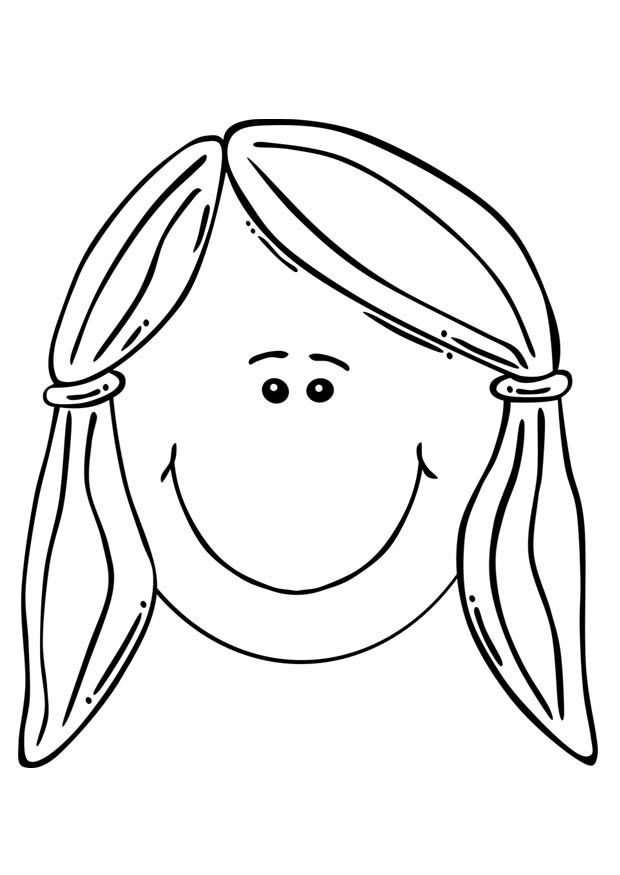 Coloring page Girl's face - img 17105.