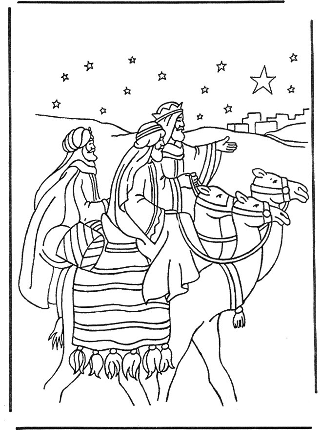 Wise men coloring page | Bible - Coloring pages
