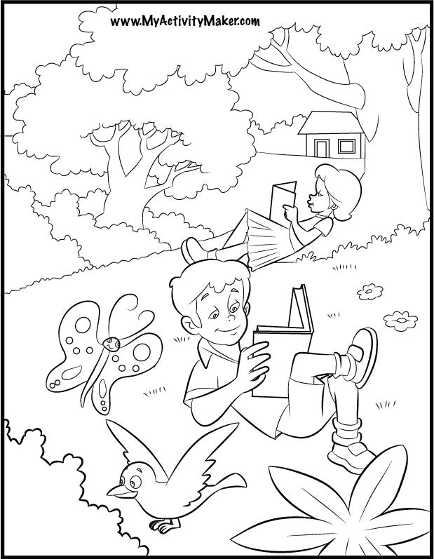coloring pages seasons - photo#30