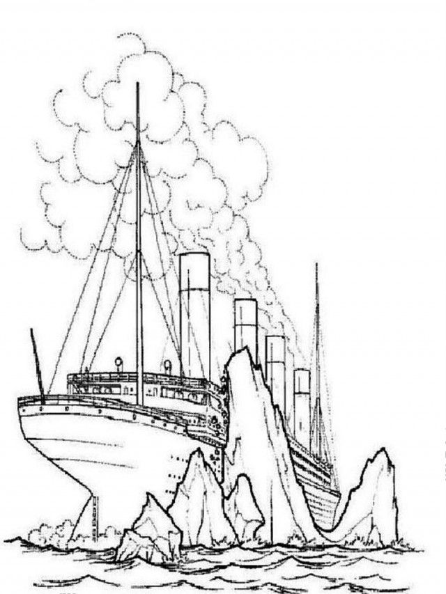 Titanic Coloring Page - Coloring Home