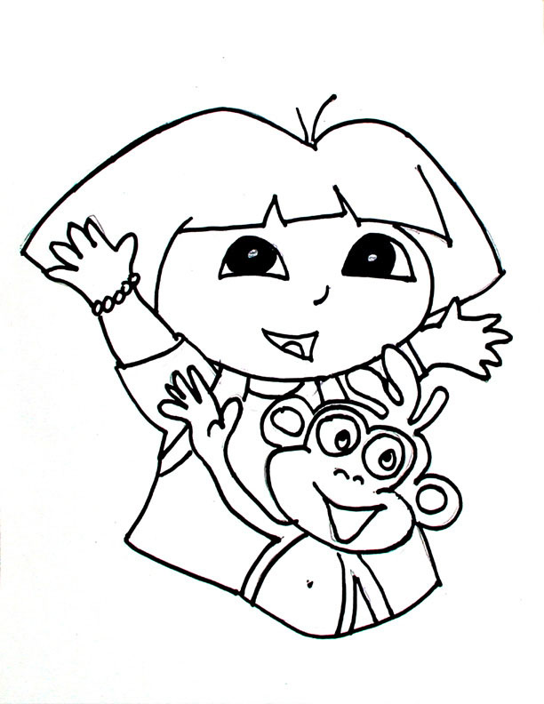Dora diego coloring pages az coloring pages for Dora and diego color pages