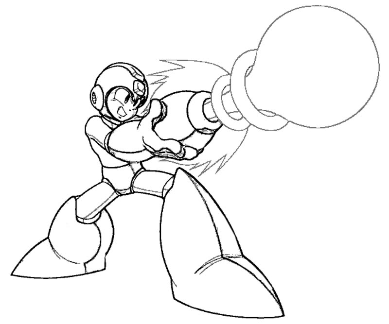 mega man coloring pages free - photo#2