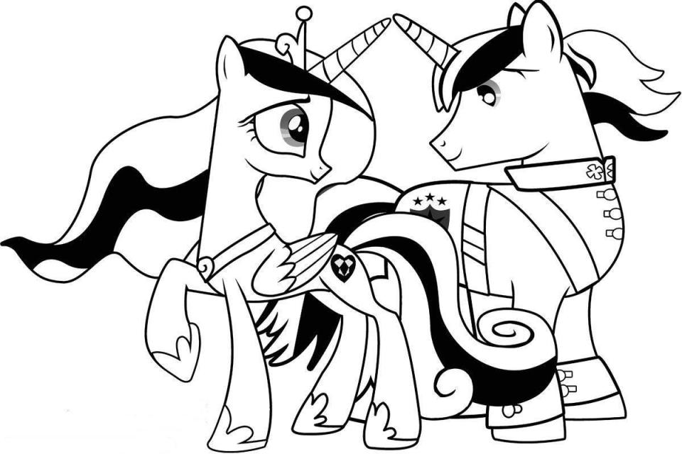 Print Princess Cadance And Shinning Armor My Little Pony Coloring