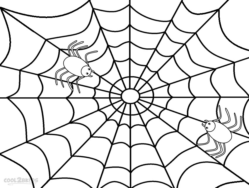 Cartoon Pictures Of Spiders Az Coloring Pages Spider Web Color Template