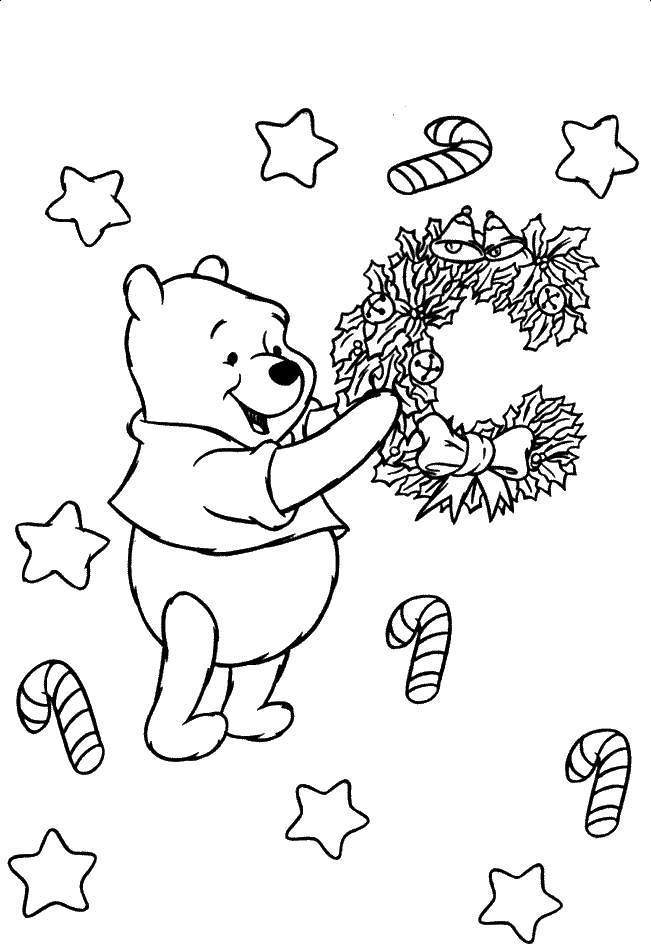cute winnie the pooh cartoon best coloring pages for kids